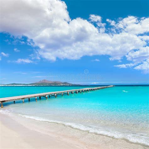 majorca platja de muro beach alcudia bay mallorca stock