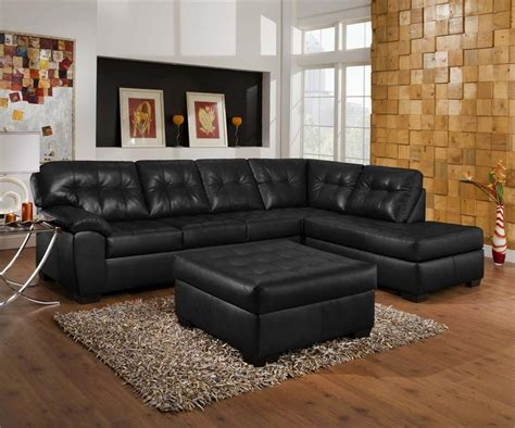 Leather Sectional Living Room Ideas by Living Room Decorating Ideas Black Leather