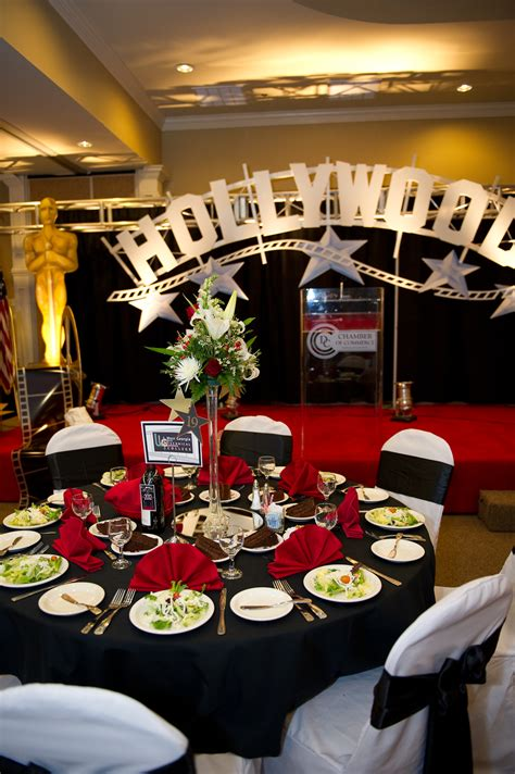hollywood themed gala room decoration   centre