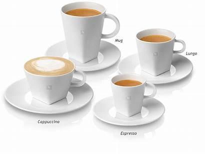 Pure Nespresso Espresso Cups Cappuccino Saucers