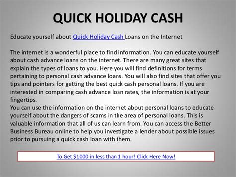 Quick Holiday Cash  Cash Advances & Quick Cash Information. Best Business Credit Card For Miles. Masters In Teaching English As A Second Language. Best And Cheap Web Hosting Track Email Source. Radiologic Technology School