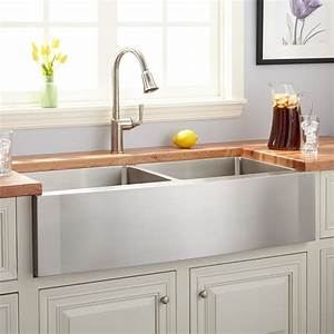 42quot optimum double bowl stainless steel farmhouse sink With 2 bowl farmhouse sink