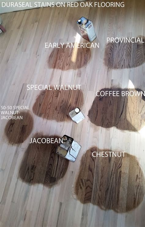 Duraseal Stain on Red Oak Wood Flooring. Chestnut