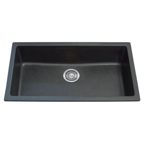 black granite kitchen sink single bowl black granite topmount kitchen sink 790mm 4681
