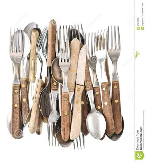 couverts de cuisine couverts antiques rétro couteau fourchette et cuillère d