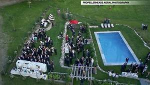 drones take to the skies over weddings in search of With drone wedding photos