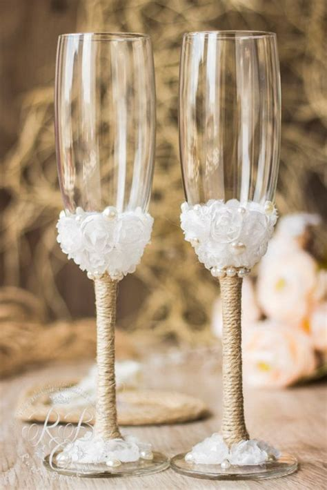 dramatically touch bride  groom wine glass set