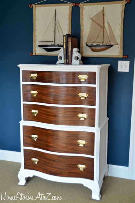 Twotoned Dresser With Card Catalog Pulls