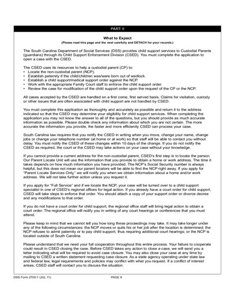 custodial parent custodial parent application for child support services south carolina free download