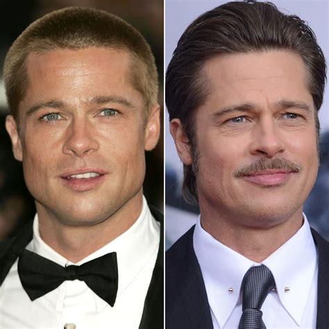 brad pitt male celebrities  hair  shaved heads
