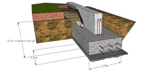 Fondations à Ponteves Maison bois côté sud