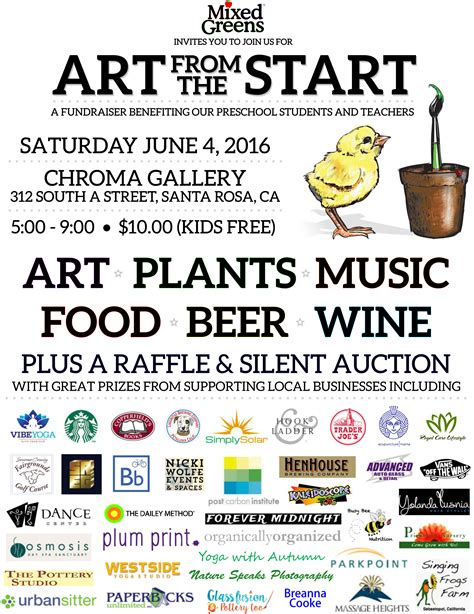 events mixed greens preschool santa rosa ca 392 | MG Art from the Start Flyer2016