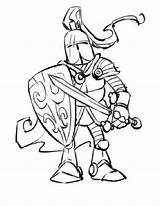 Coloring Knight Pages Medieval Knights Drawing Soldier Cartoon Freak Warrior Mighty Printable Adults Getdrawings Drawings sketch template