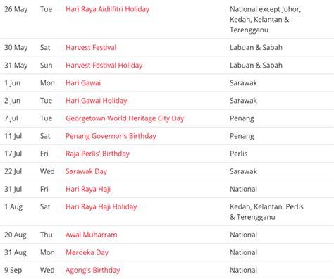 blank printable malaysia public holidays  calendar