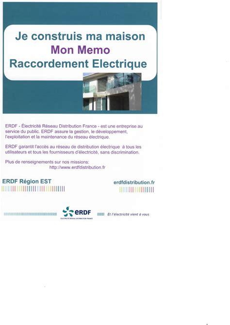 erdf si鑒e social raccordement électrique