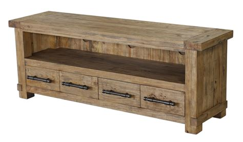 farmhouse tv console table country reclaimed solid wood farmhouse console table at