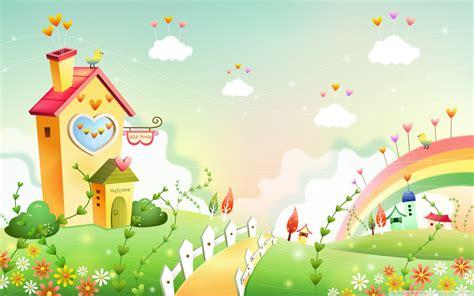 spring landscape  rainbow  ultra hd desktop