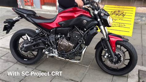 yamaha mt 07 sc project yamaha mt 07 2016 sc project crt fz07 sound exauhst