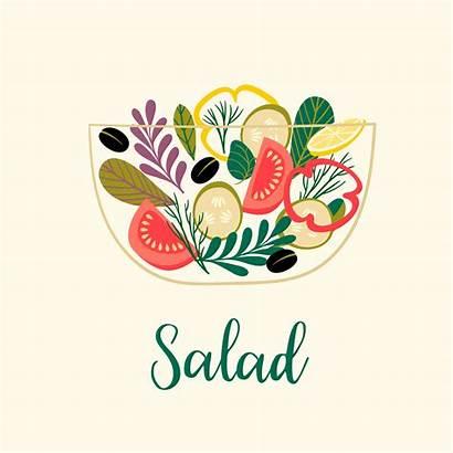 Salad Vector Vegetable Healthy Illustration Vegetables Vecteezy