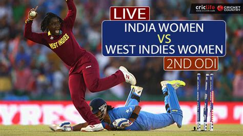 Live Cricket Score, India Vs West Indies, 2nd (women's
