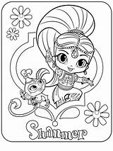 Coloring Shine Pages Shimmer Cartoon Printable Colors Recommended sketch template
