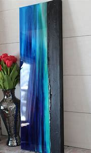 Custom order ocean blue turquoise mixed media epoxy resin ...