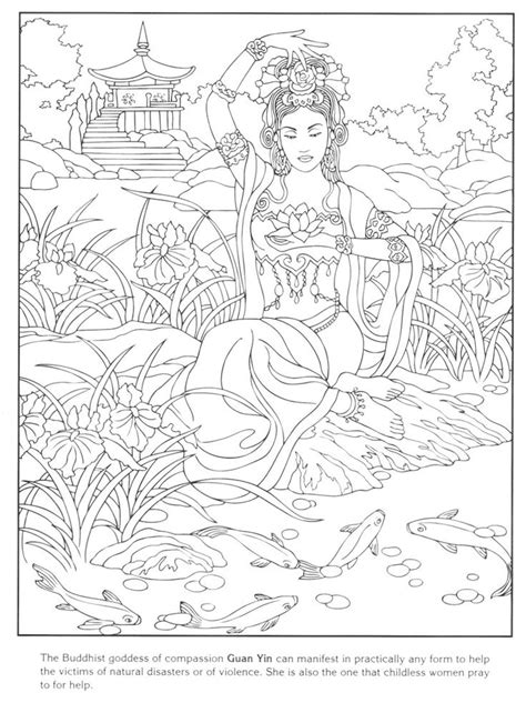 Kleurplaat Freya by Norse Mythology Coloring Pages For Adults Coloring Pages