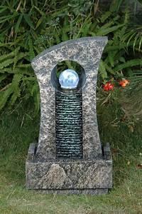 Fontaine Mur D Eau Exterieur : fontaine d 39 ext rieur boule de cristal et mur d 39 eau ~ Premium-room.com Idées de Décoration