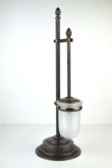 oggetti arredo bagno portascopino per wc ottone serie impero arredo bagno