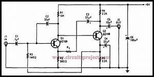Simple G Purpose Preamplifier Circuit Diagram