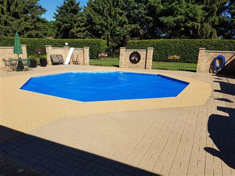 pool deck resurfacing pool deck ideas soft crete