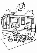 Coloring Camper Camping Pages Rv Trailer Printable Getcoloringpages sketch template