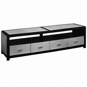 Tv 190 Cm Pas Cher : meuble tv metal noir pas cher ~ Teatrodelosmanantiales.com Idées de Décoration