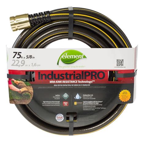 home depot garden hose element industrialpro 5 8 in dia x 75 ft lead free