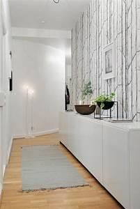 deco noir et blanc couloir With quelle couleur avec gris anthracite 11 papier peint pour couloir comment faire le bon choix