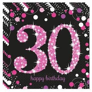 Dekoration 30 Geburtstag : geburtstagsservietten zum 30 geburtstag pink celebration geburtstag 30 dekoration ~ Yasmunasinghe.com Haus und Dekorationen