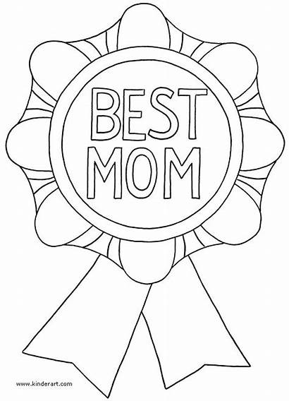 Coloring Mothers Pages Happy Mother Printable Mom