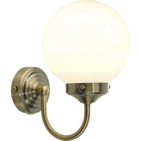 bar0775 barclay antique brass switched bathroom wall light