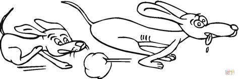 dibujo de juego de perros  colorear dibujos