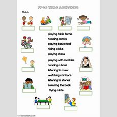 Free Time Activities (with Video)  Interactive Worksheet