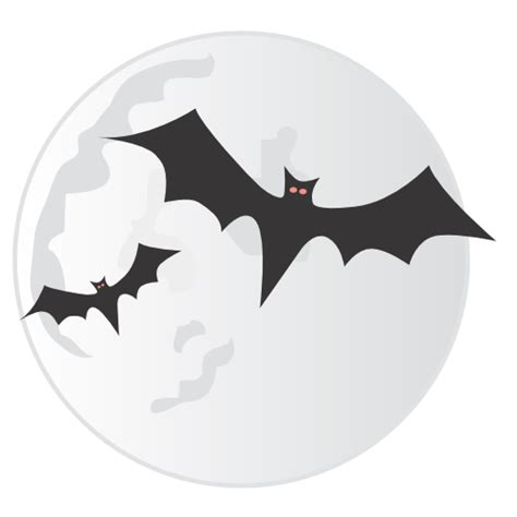 bats moon icon halloween iconset css creme