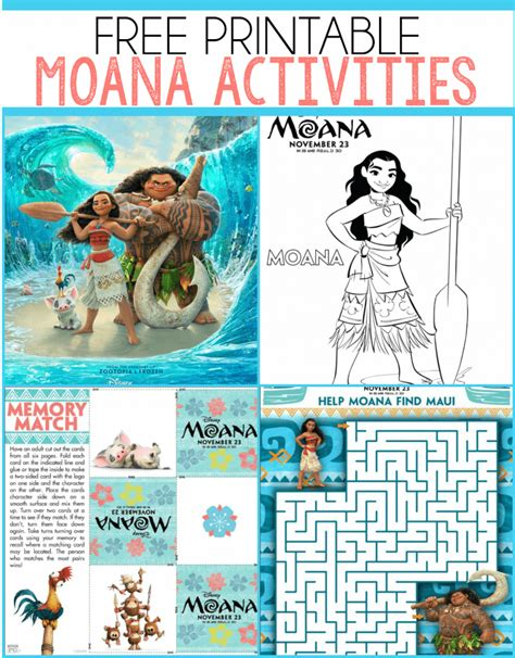 moana printables coloring pages party printables