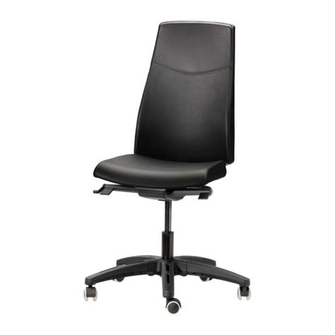 volmar swivel chair mjuk black ikea