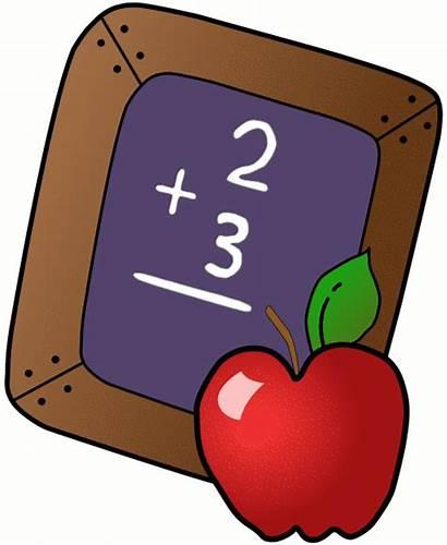 Clip Classroom Clipart Apple Math Teacher Addition