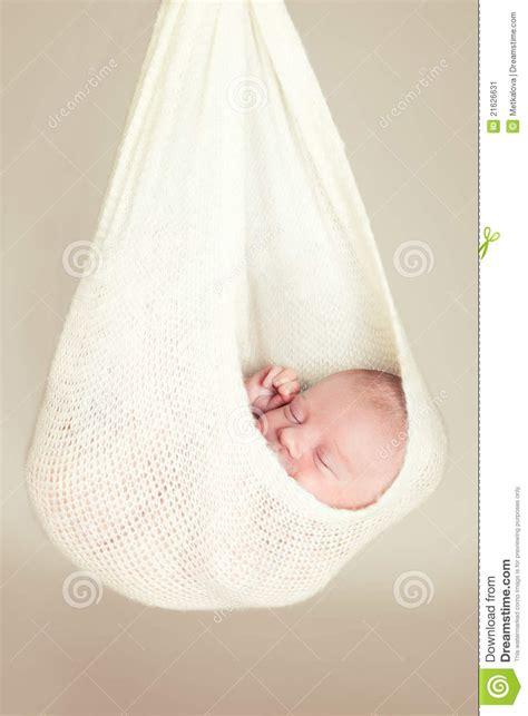 Baby Hammock For Sleeping by Newborn Baby Sleeping In A Hammock Stock Image Image
