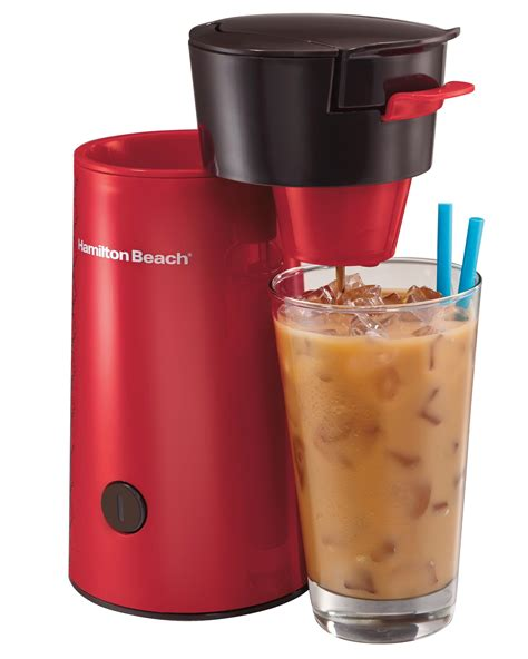 Simply put, iced coffee is just the frosty version of coffee that we love to drink everyday. Hamilton Beach Iced Coffee Brewer, Red (40920): Amazon.ca: Home & Kitchen