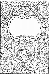 Coloring Adult Binder Colouring Sheets Covers Disegni Colorare Quotes Da Sample Scuola Doodle Notebook Visit Diy Shadows sketch template