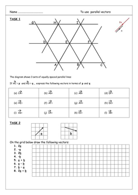 Vectors For Gcse Foundation Tier By Aingarth  Teaching Resources Tes