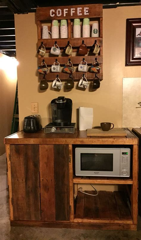 pallet coffee microwave cart pallet project