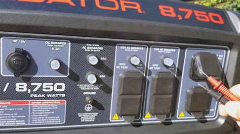 predator  generator start   voltage check youtube